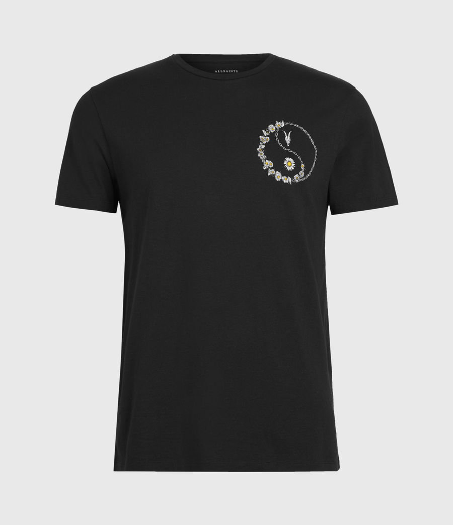 Mens Daisy Chain Crew T-Shirt (jet_black) - Image 1