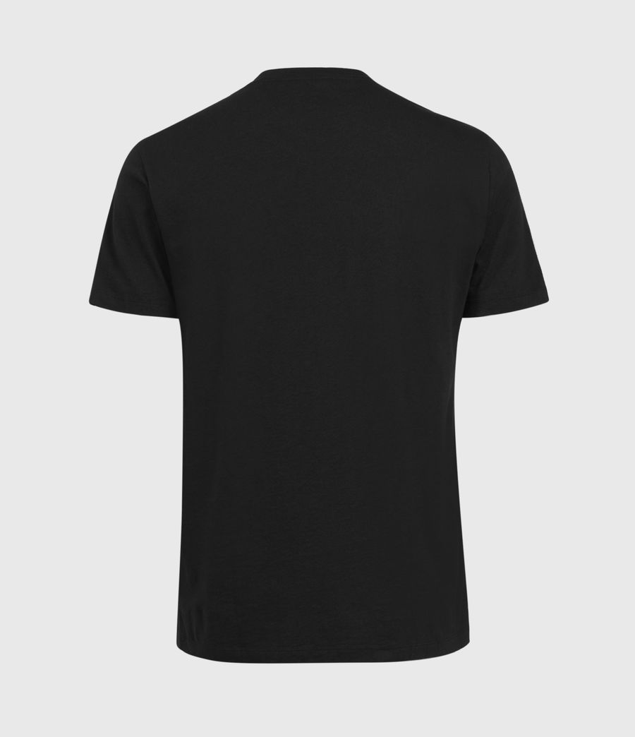Men's Daisy Chain Crew T-Shirt (jet_black) - Image 3