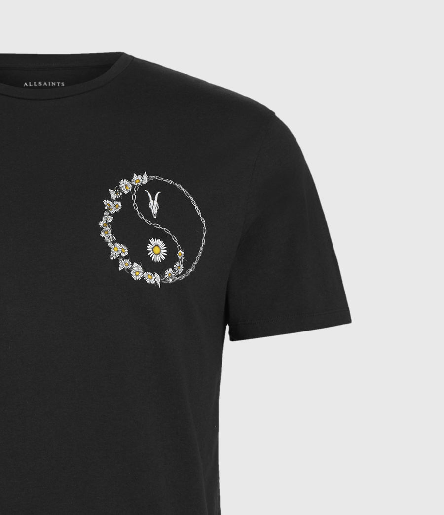 Men's Daisy Chain Crew T-Shirt (jet_black) - Image 4