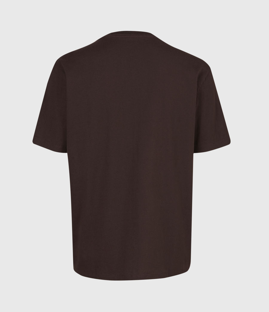 Herren Dropout Crew T-Shirt (oxblood_red) - Image 3