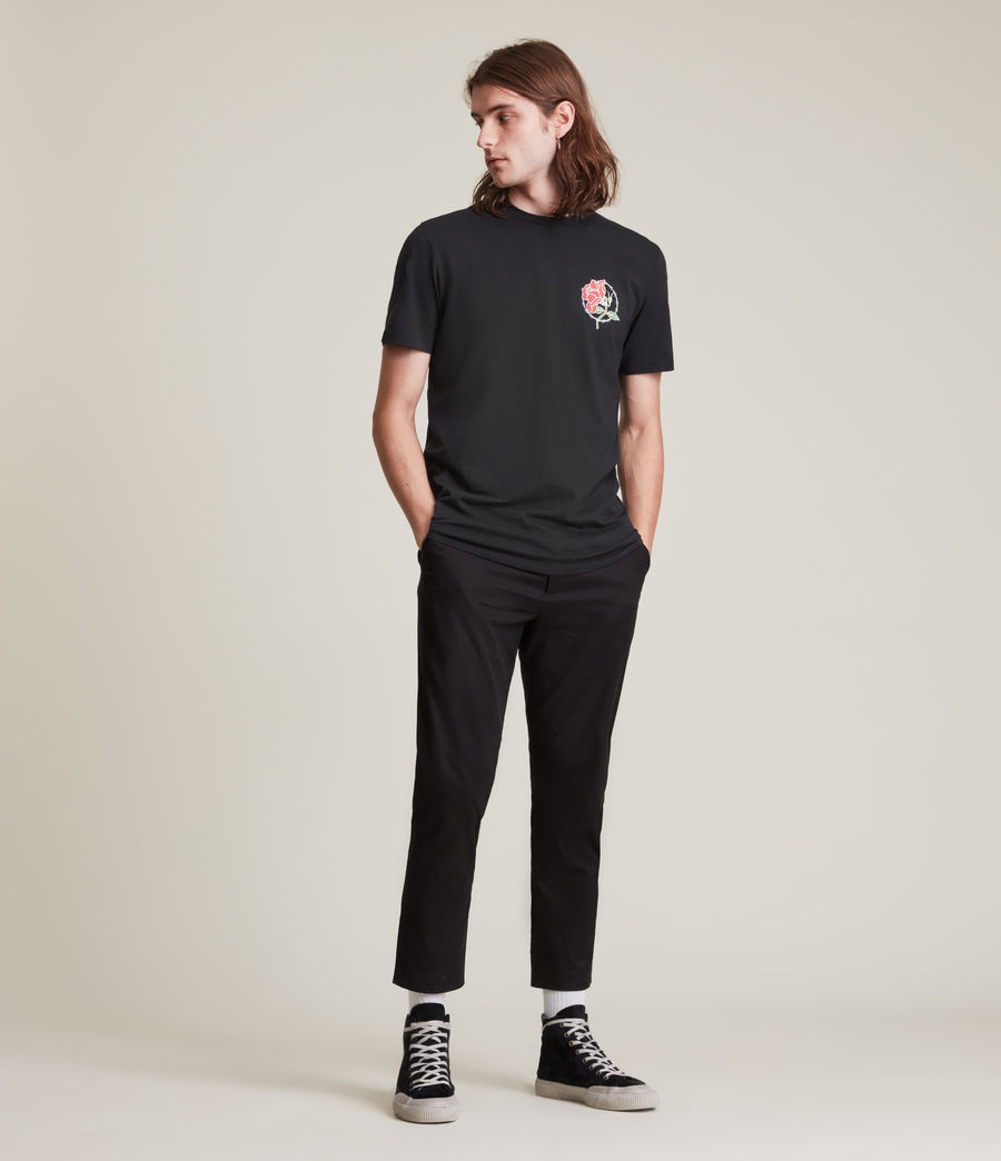 Men's Nurose Brace Crew T-Shirt (jet_black) - Image 3