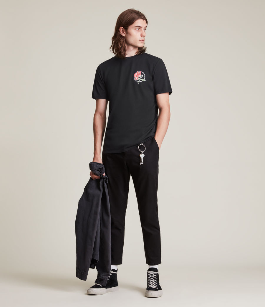 Men's Nurose Brace Crew T-Shirt (jet_black) - Image 4