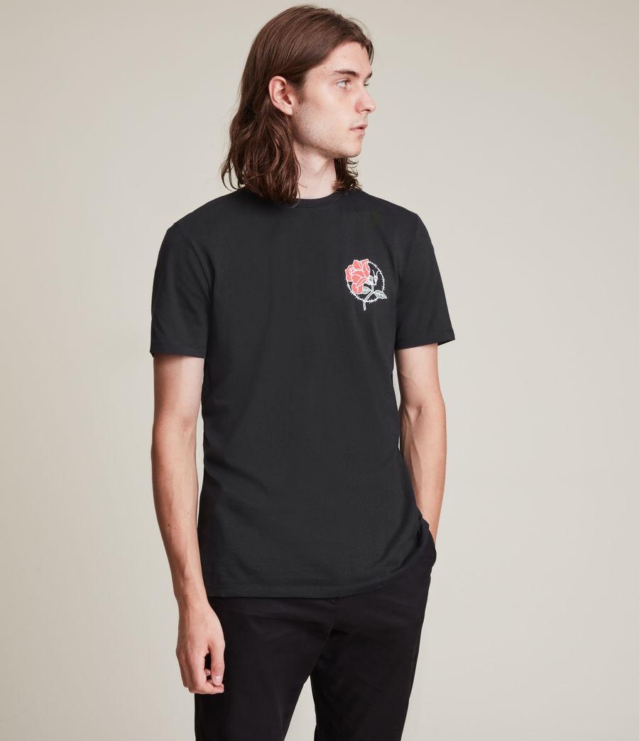 Men's Nurose Brace Crew T-Shirt (jet_black) - Image 5