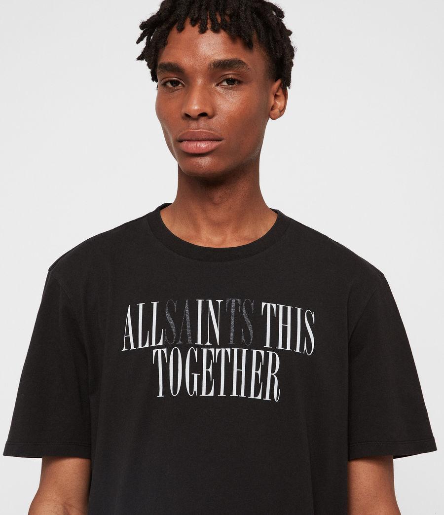 Mens Together Crew T-Shirt (jet_black_optic) - Image 1