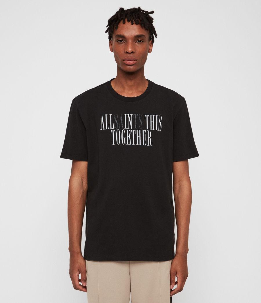 Hommes T-Shirt Together (jet_black_optic) - Image 2