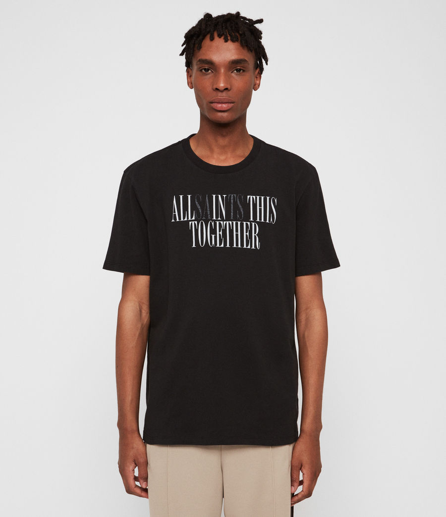 Mens Together Crew T-Shirt (jet_black_optic) - Image 2
