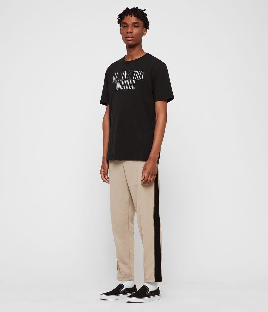 Hommes T-Shirt Together (jet_black_optic) - Image 3