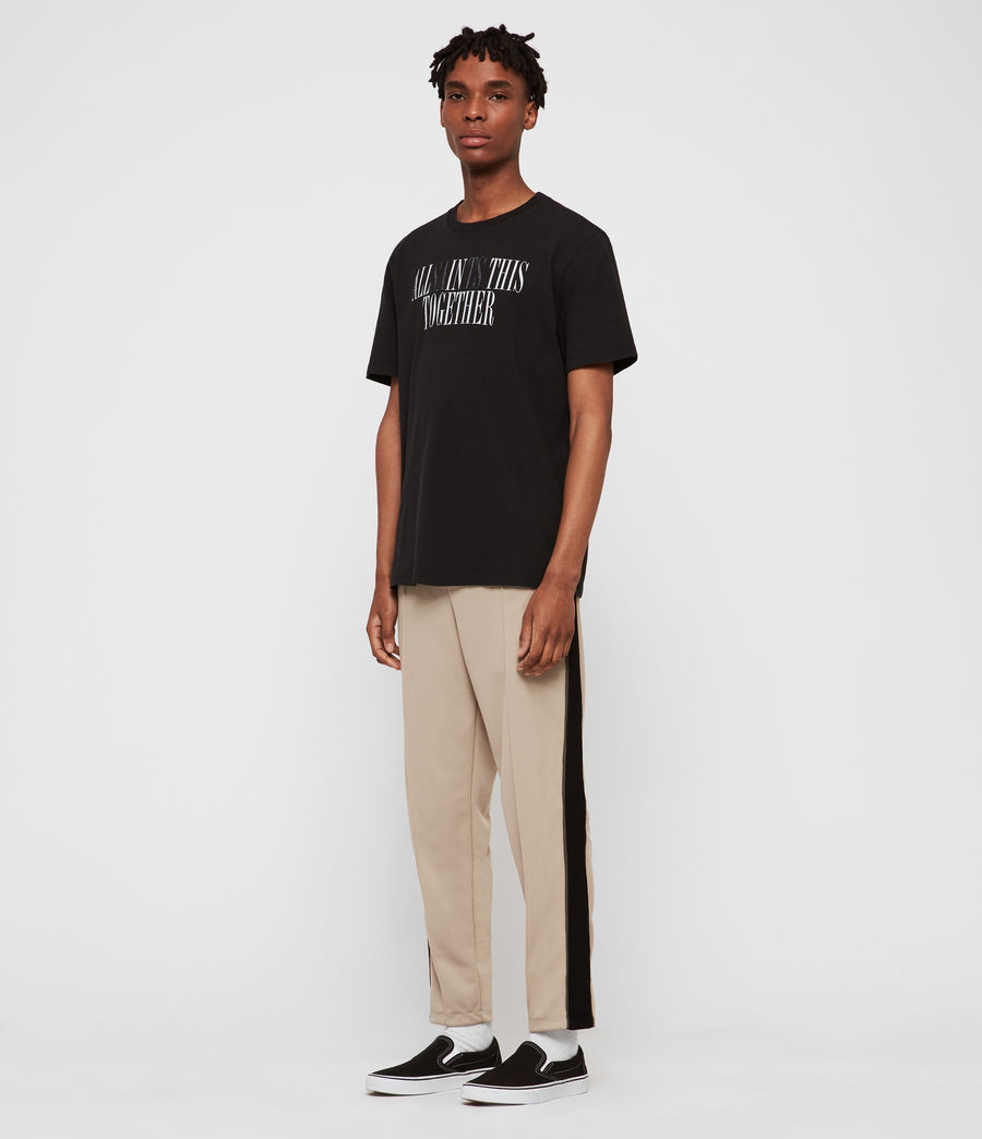 Mens Together Crew T-Shirt (jet_black_optic) - Image 3