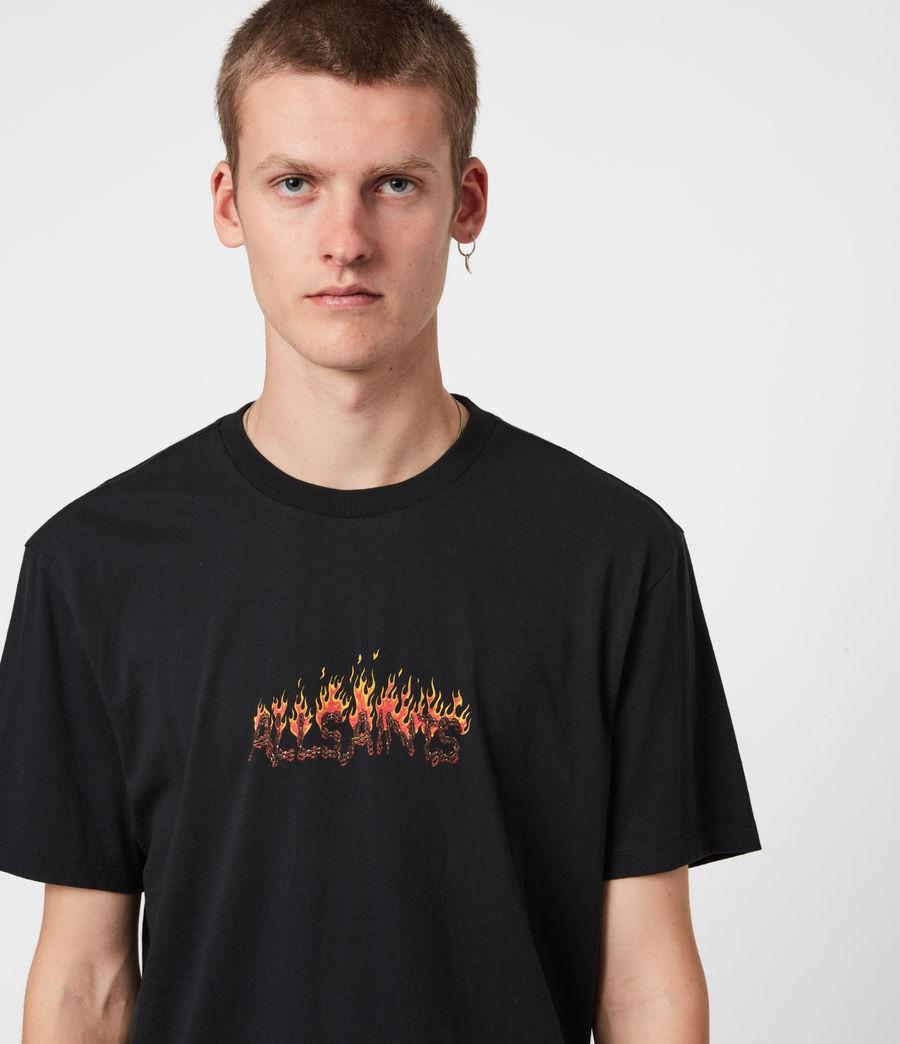 Mens Molten Crew T-Shirt (jet_black) - Image 4