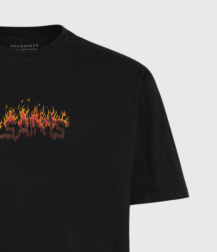 Mens Molten Crew T-Shirt (jet_black) - Image 5