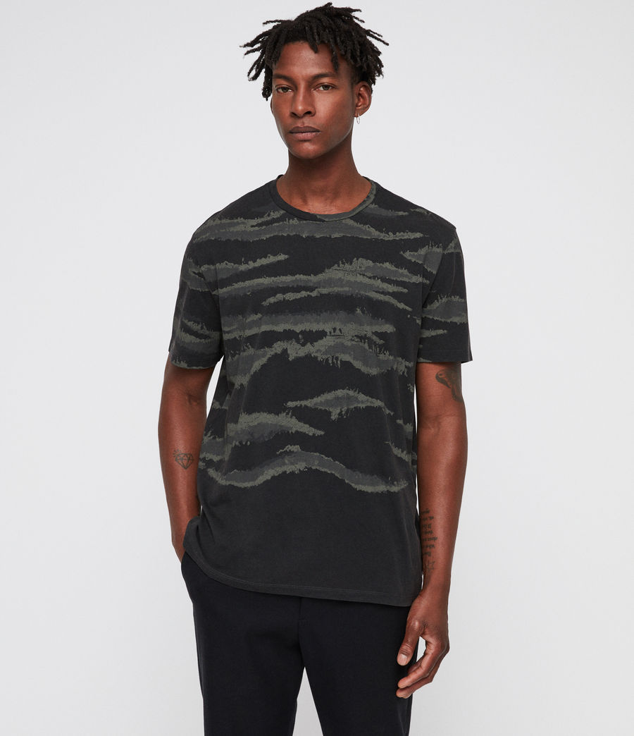 Men's Brushed Camo Crew T-Shirt (vintage_black) - Image 1