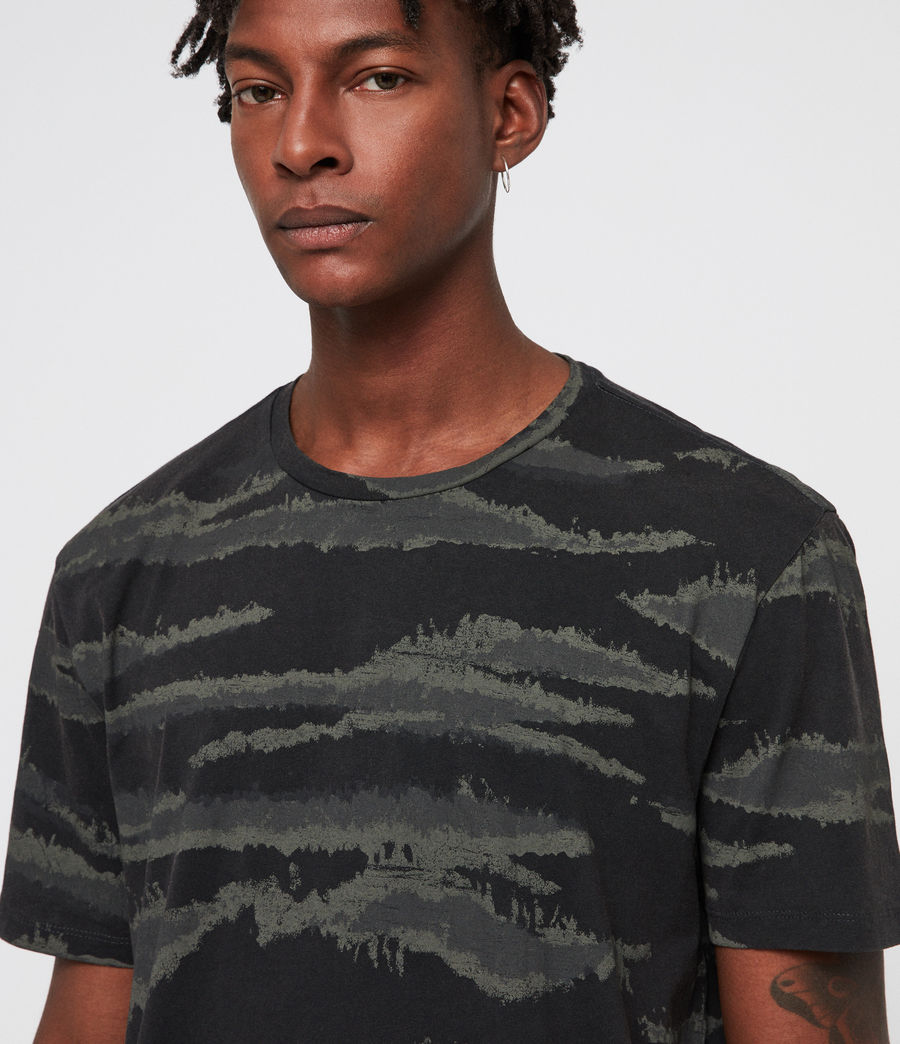 Men's Brushed Camo Crew T-Shirt (vintage_black) - Image 2