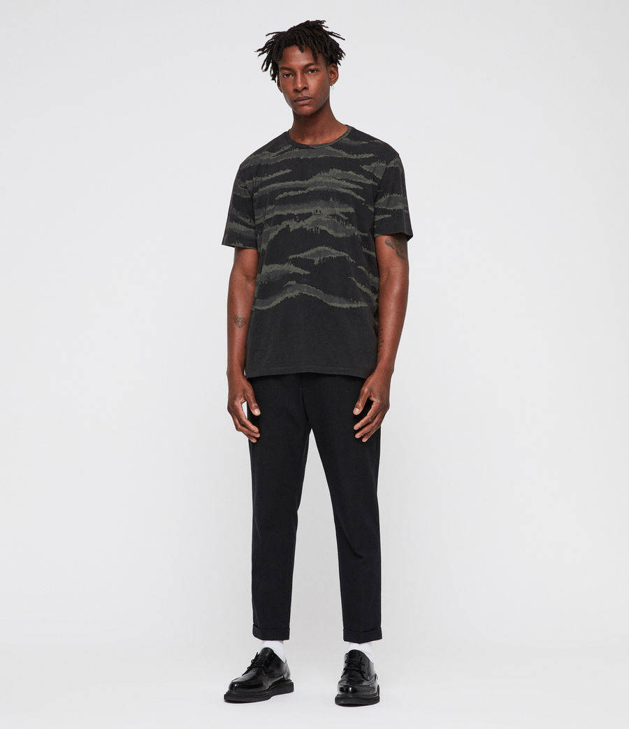 Men's Brushed Camo Crew T-Shirt (vintage_black) - Image 3