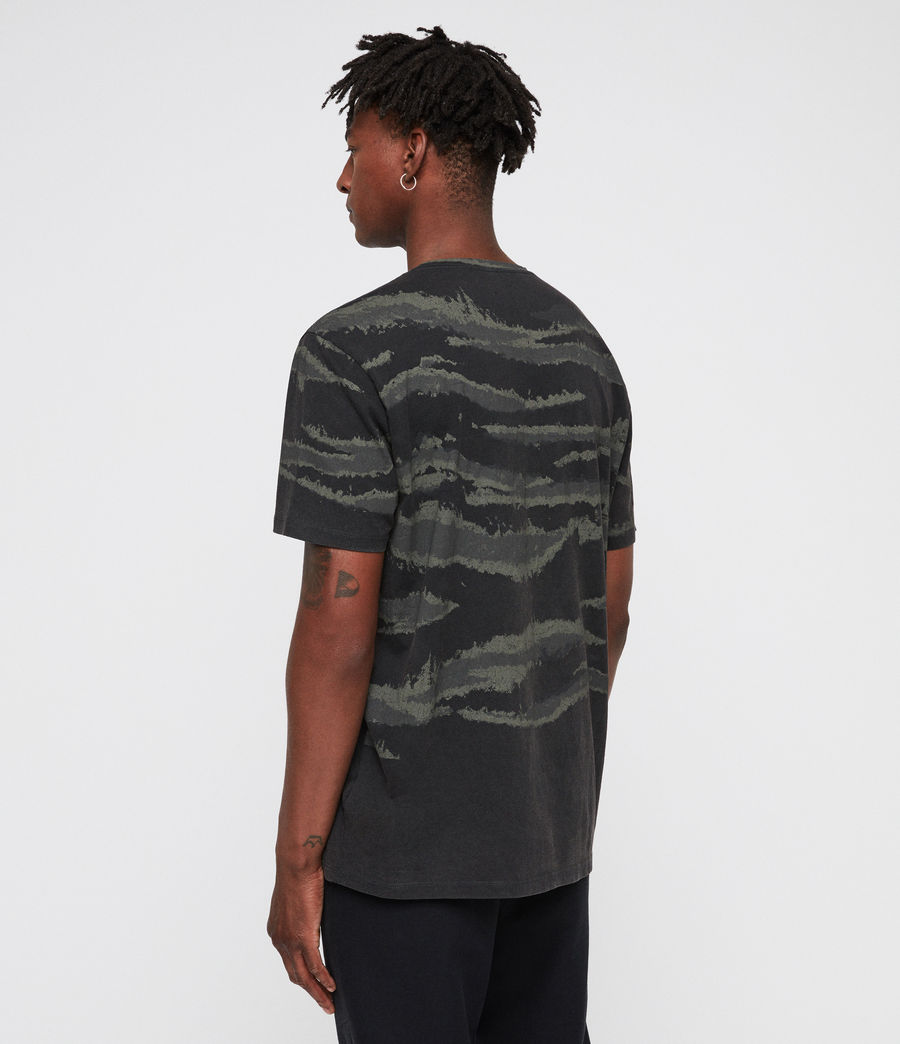 Mens Brushed Camo Crew T-Shirt (vintage_black) - Image 5