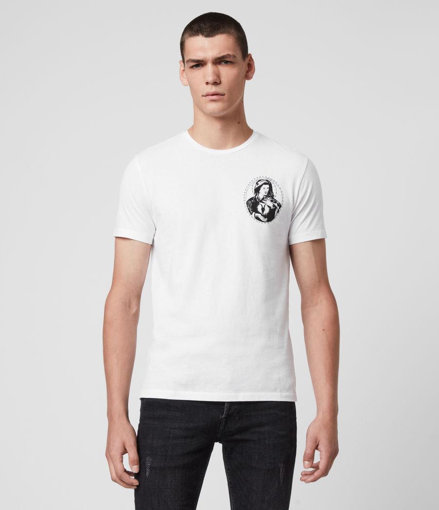 Mens Mother Crew T-Shirt (optic_white) - Image 1