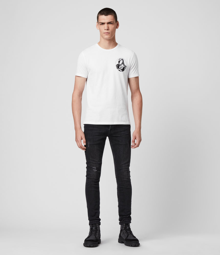 Hombre Mother Crew T-Shirt (optic_white) - Image 3