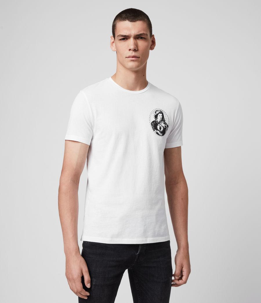Mens Mother Crew T-Shirt (optic_white) - Image 3