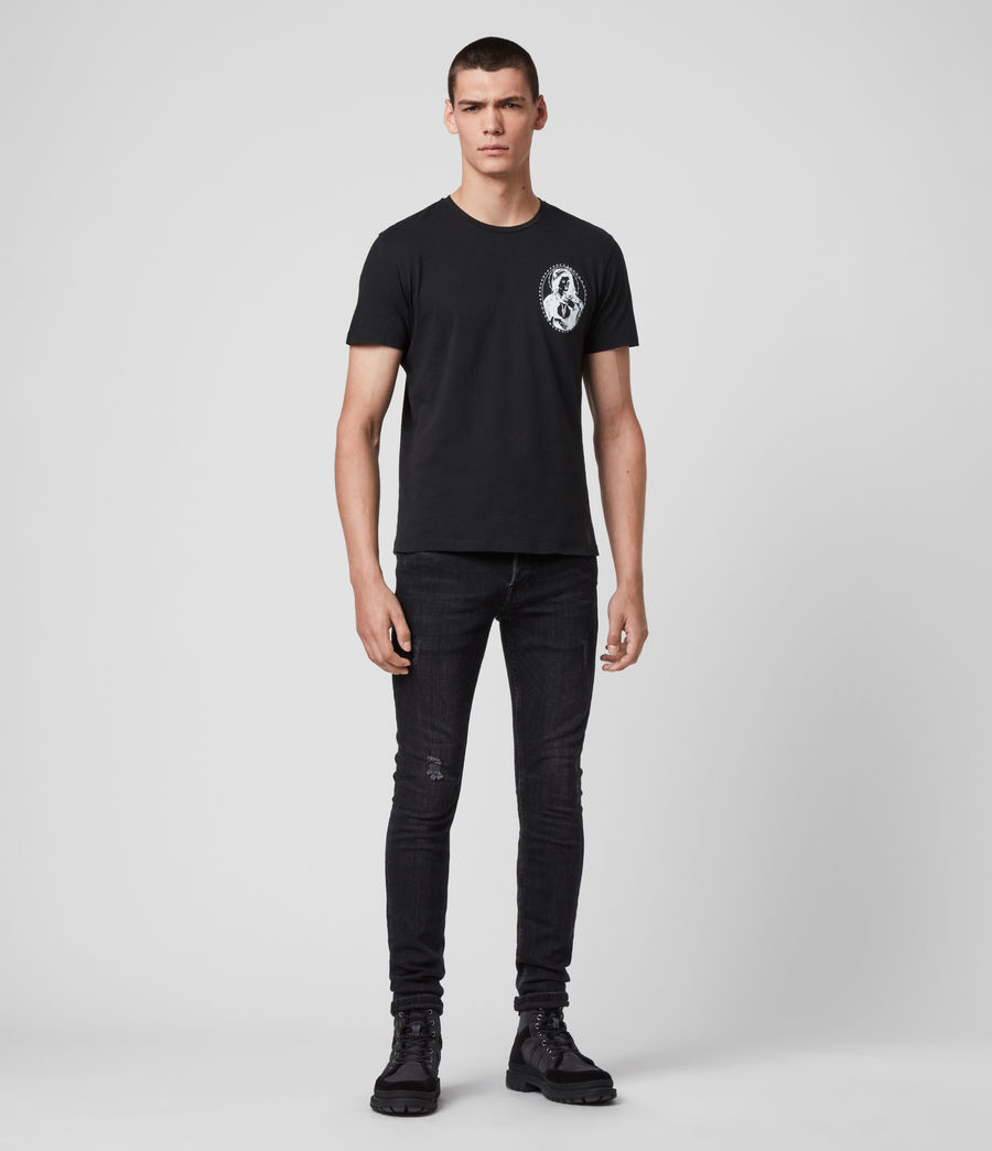 Mens Mother Crew T-Shirt (jet_black) - Image 3