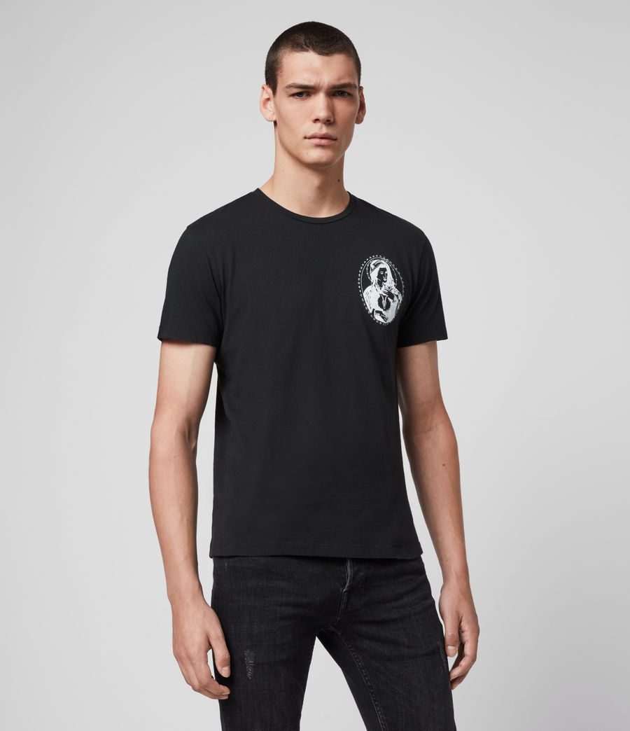 Mens Mother Crew T-Shirt (jet_black) - Image 4