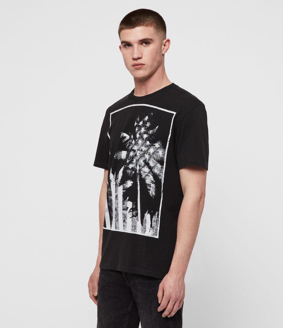 Mens Twilight N Stars Crew T-Shirt (vintage_blk_white) - Image 3