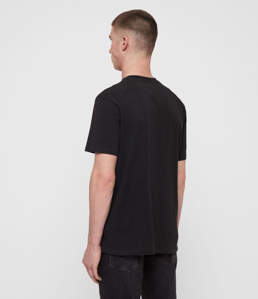 Mens Twilight N Stars Crew T-Shirt (vintage_blk_white) - Image 4
