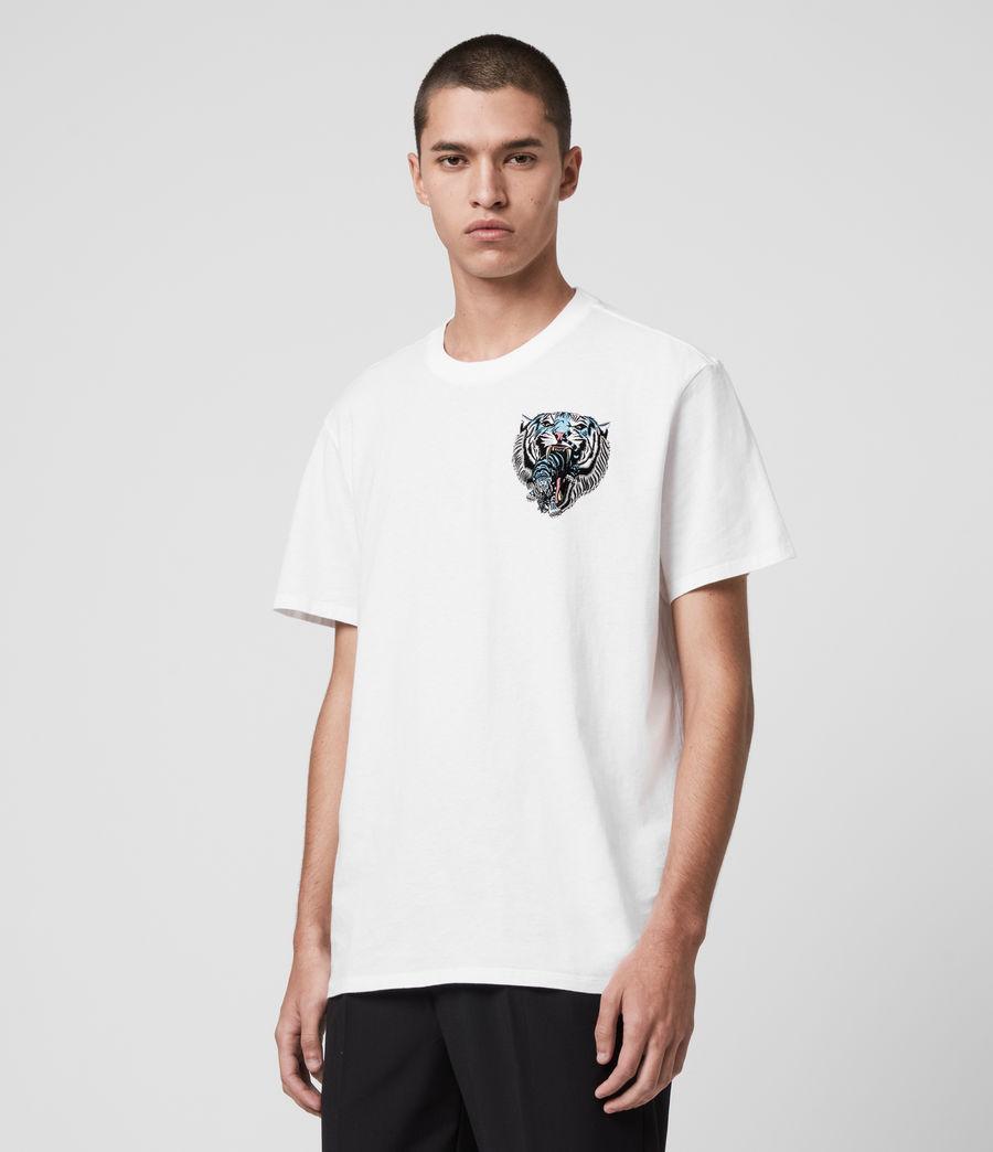 Men's Twin Tiger Short Sleeve Crew T-Shirt (jet_black) - Image 4