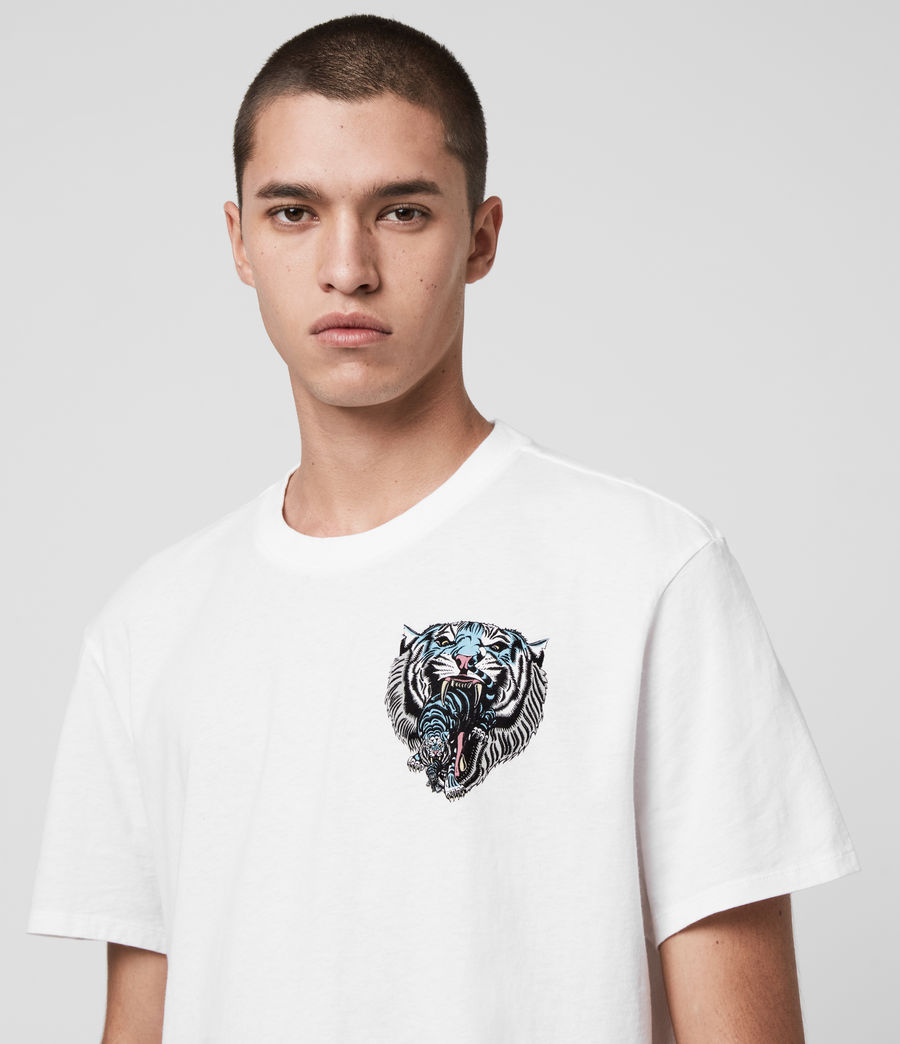 Men's Twin Tiger Short Sleeve Crew T-Shirt (jet_black) - Image 5