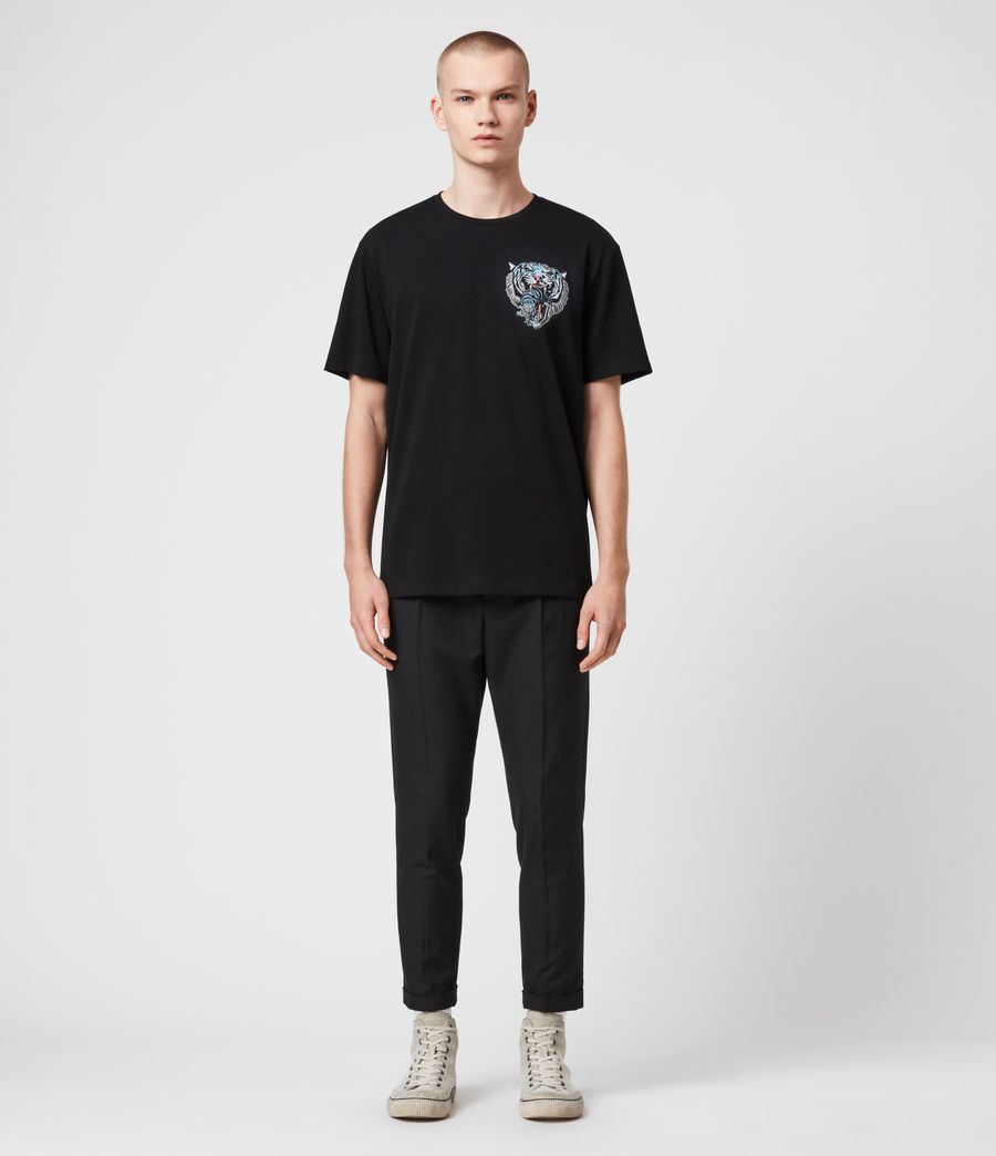 Hombre Twin Tiger Short Sleeve Crew T-Shirt (jet_black) - Image 3