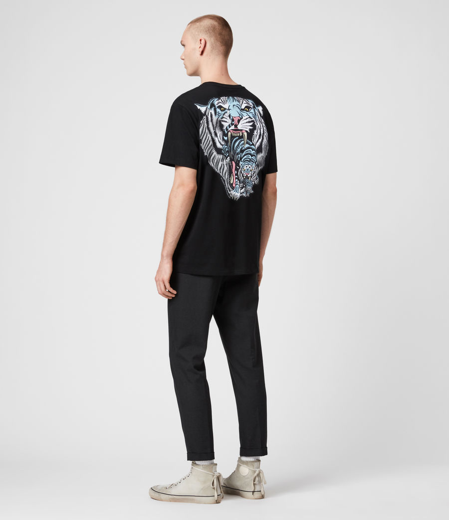 Hombre Twin Tiger Short Sleeve Crew T-Shirt (jet_black) - Image 6