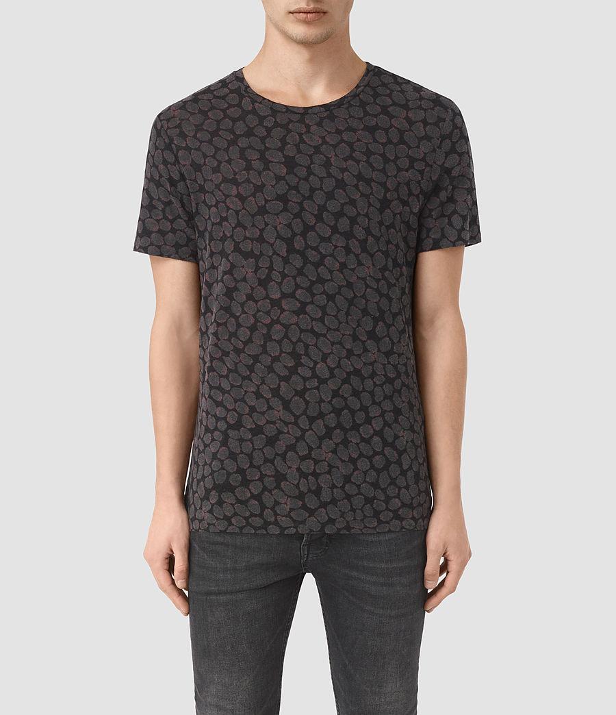 Herren Rose Petal T-Shirt (jet_black) - Image 1