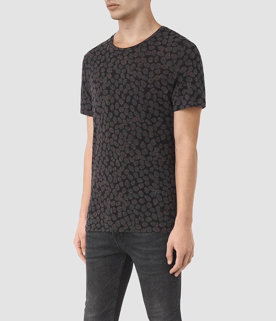 Herren Rose Petal T-Shirt (jet_black) - Image 2