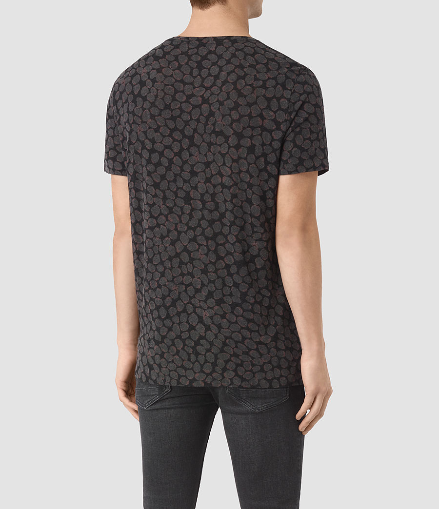 Herren Rose Petal T-Shirt (jet_black) - Image 3