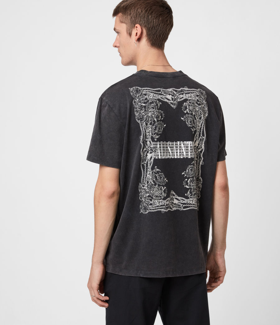 Men's Filgree Crew T-Shirt (jet_black_optic) - Image 1