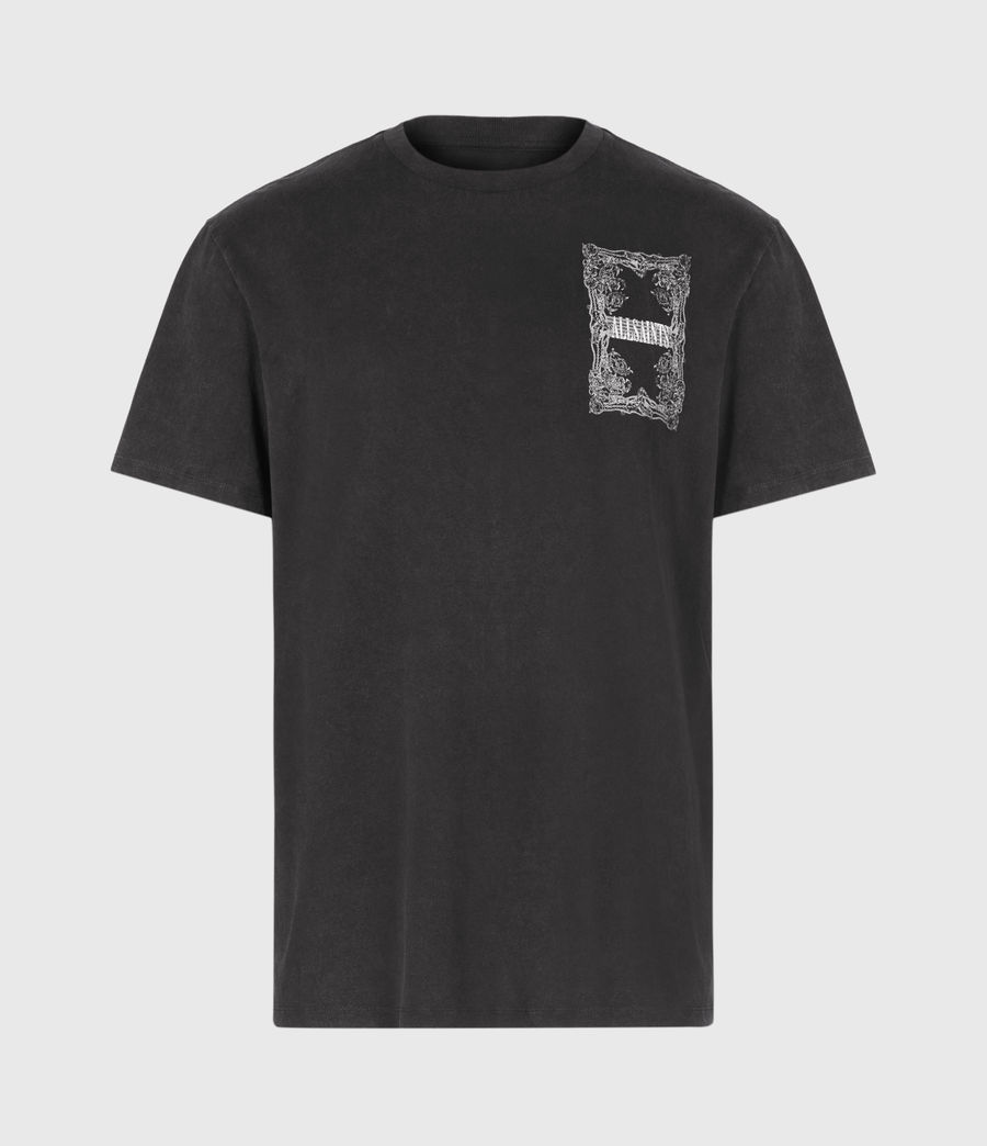 Men's Filgree Crew T-Shirt (jet_black_optic) - Image 2