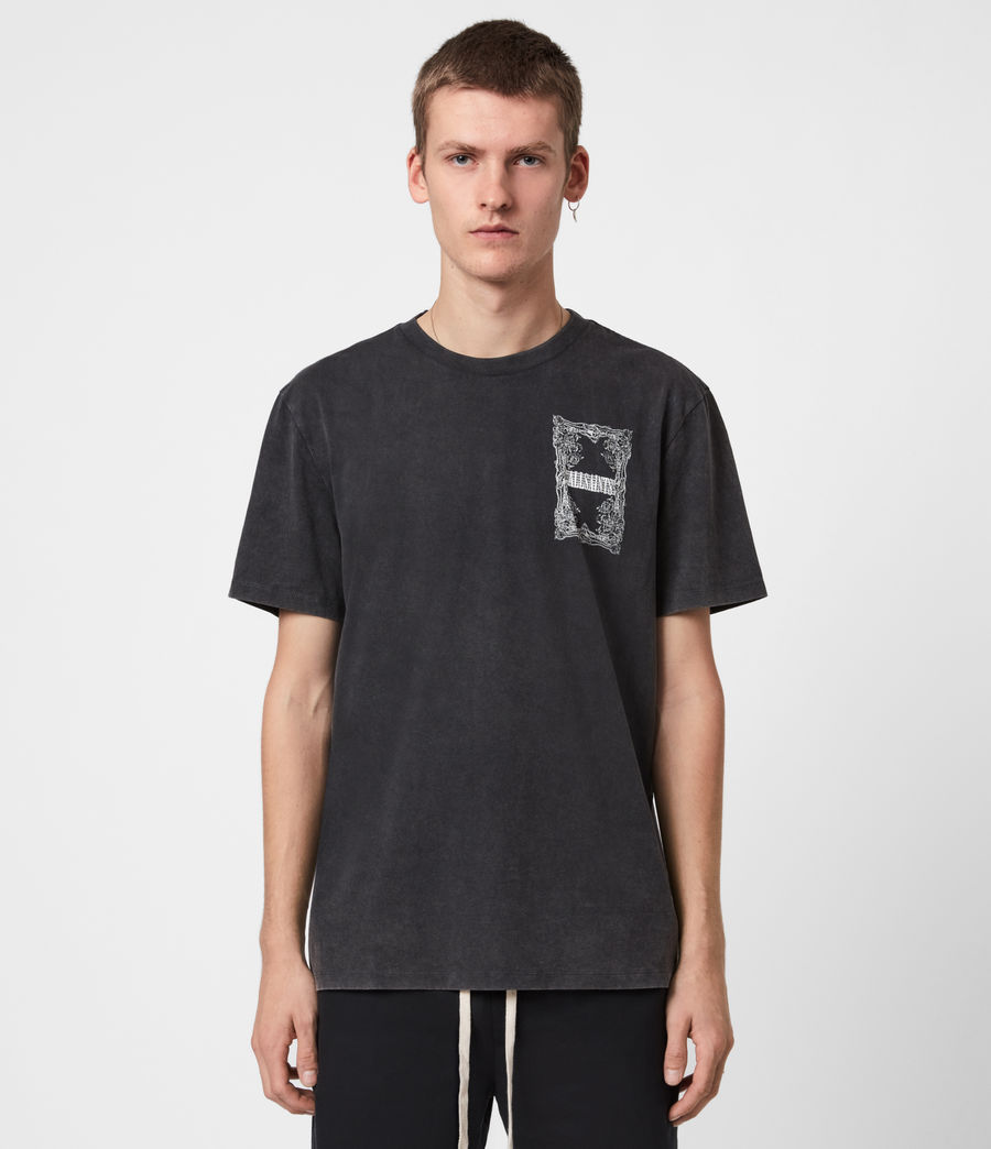Men's Filgree Crew T-Shirt (jet_black_optic) - Image 4