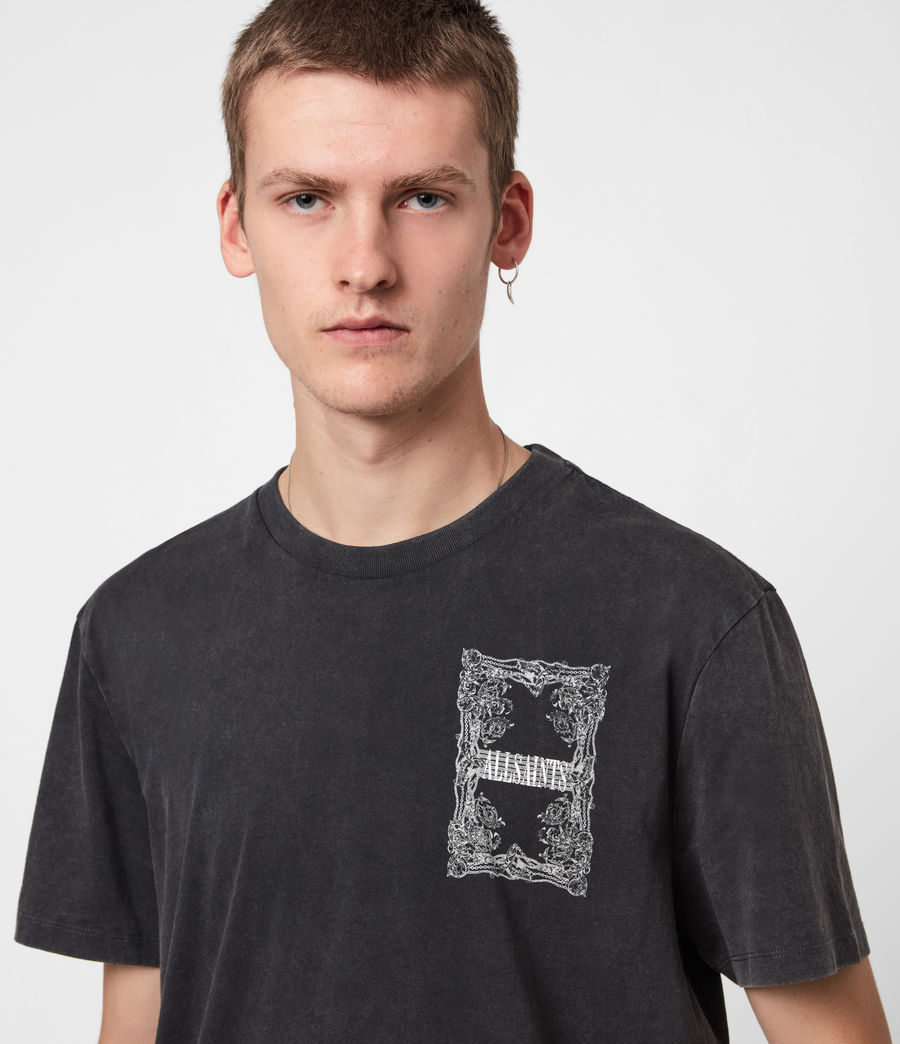 Men's Filgree Crew T-Shirt (jet_black_optic) - Image 6