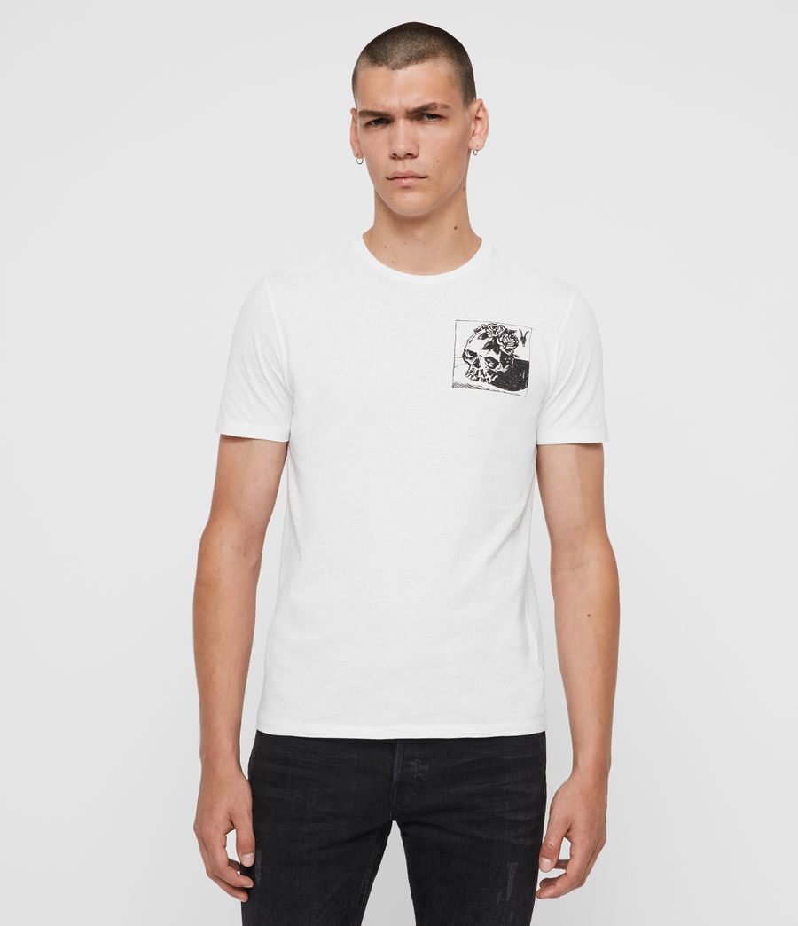 Mens Floramorte Crew T-Shirt (optic_white) - Image 1