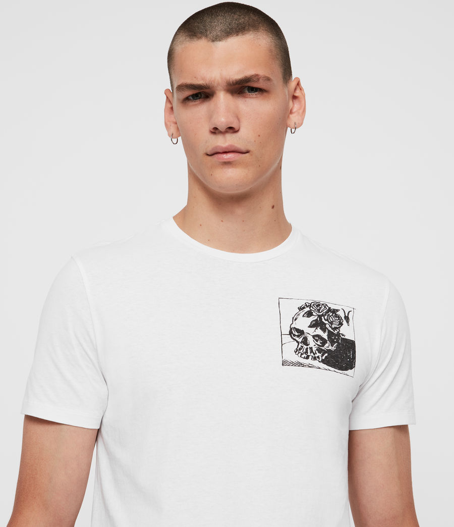 Mens Floramorte Crew T-Shirt (optic_white) - Image 2