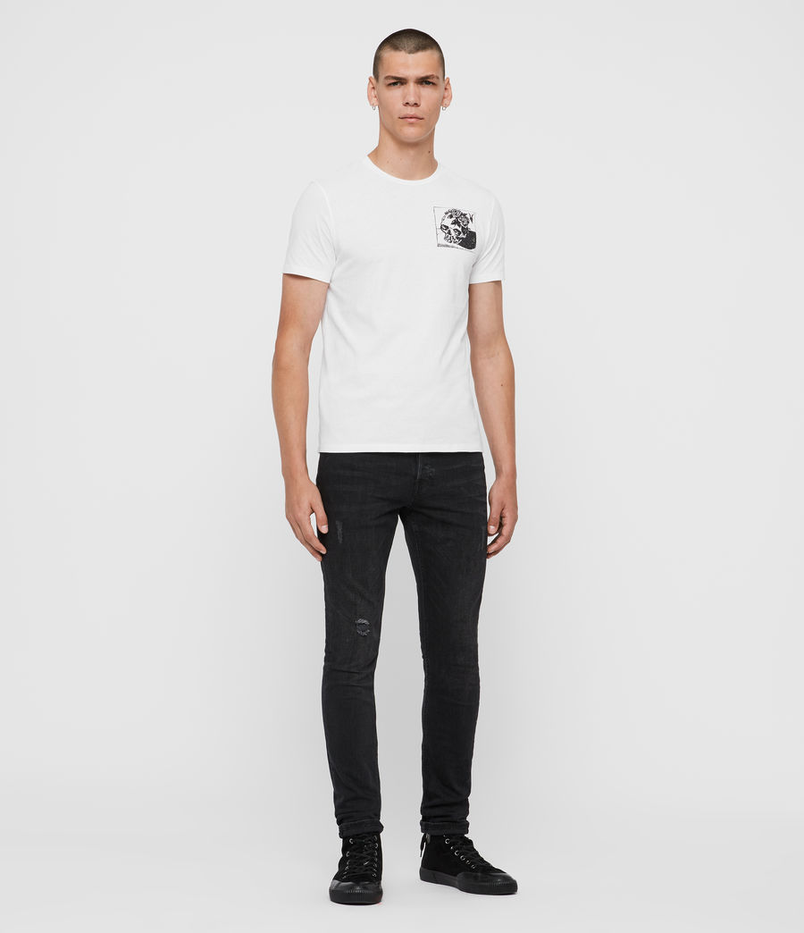 Mens Floramorte Crew T-Shirt (optic_white) - Image 3