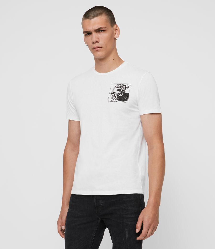 Mens Floramorte Crew T-Shirt (optic_white) - Image 4