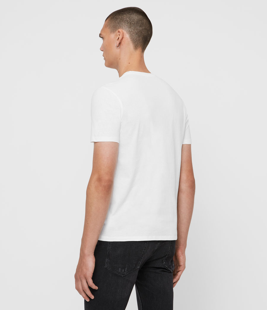 Men's Floramorte Crew T-Shirt (optic_white) - Image 5
