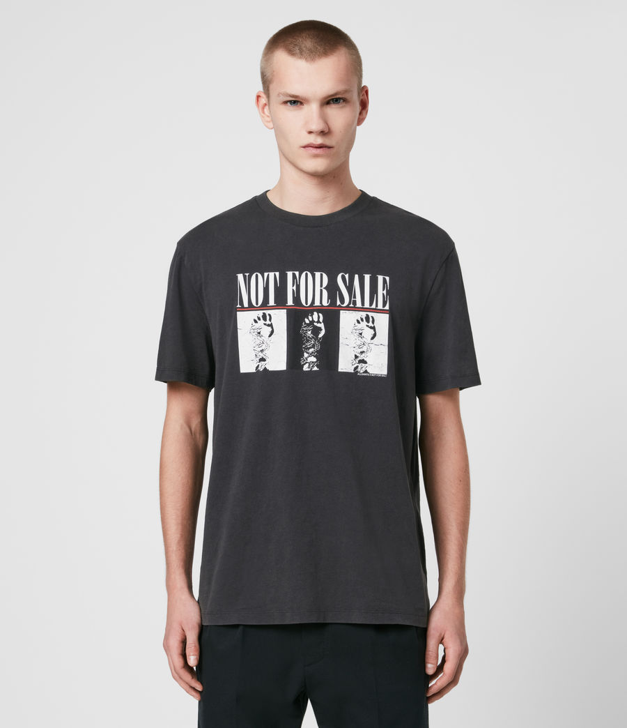 Uomo T-shirt Defy - T-shirt in beneficenza - Not For Sale (vintage_black) - Image 1