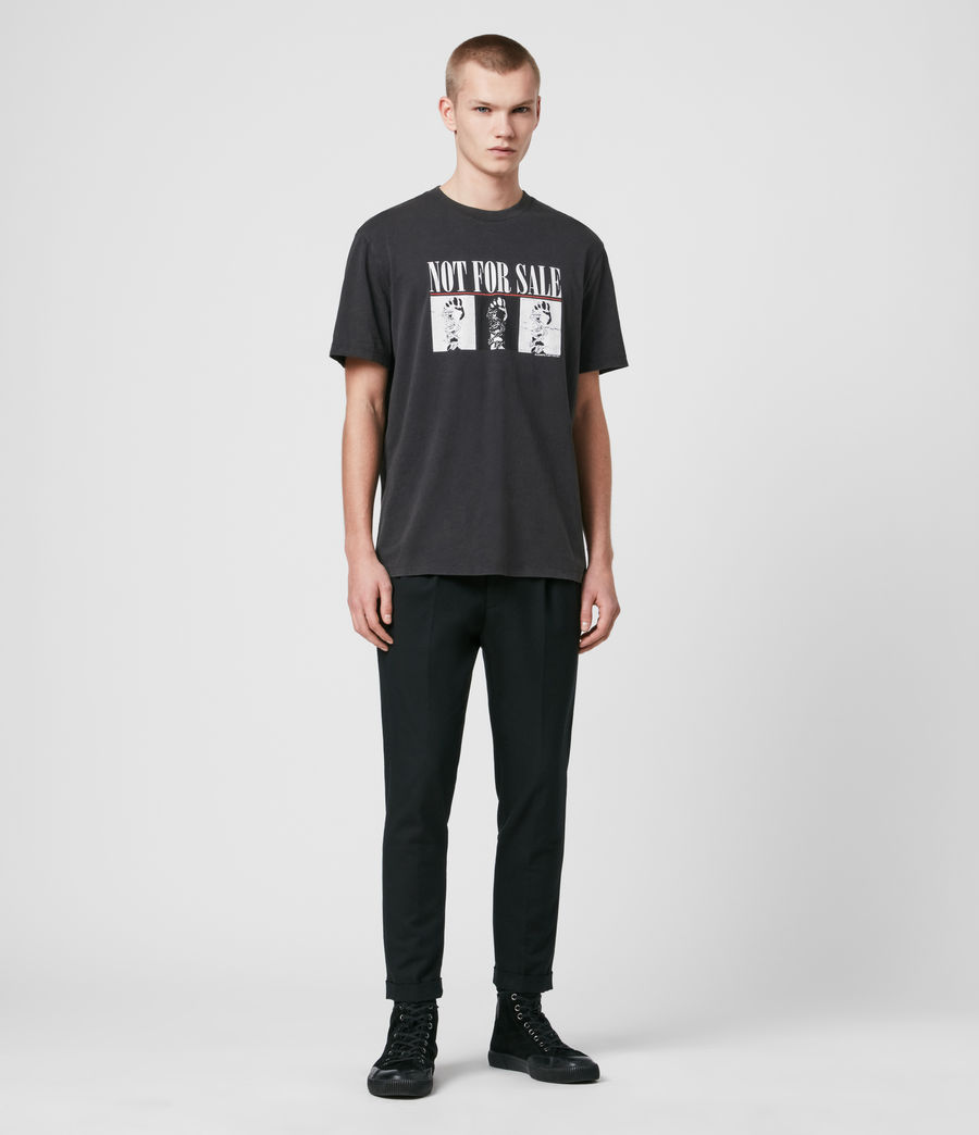 Uomo T-shirt Defy - T-shirt in beneficenza - Not For Sale (vintage_black) - Image 3