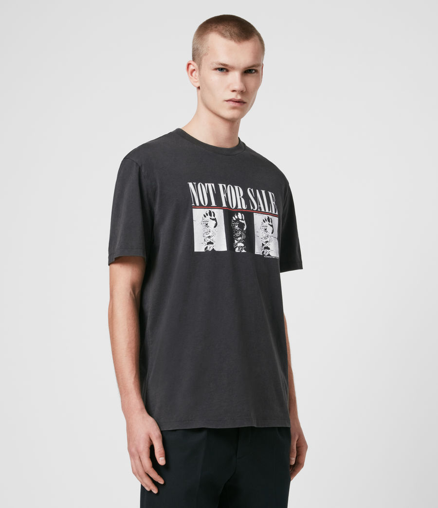 Uomo T-shirt Defy - T-shirt in beneficenza - Not For Sale (vintage_black) - Image 4