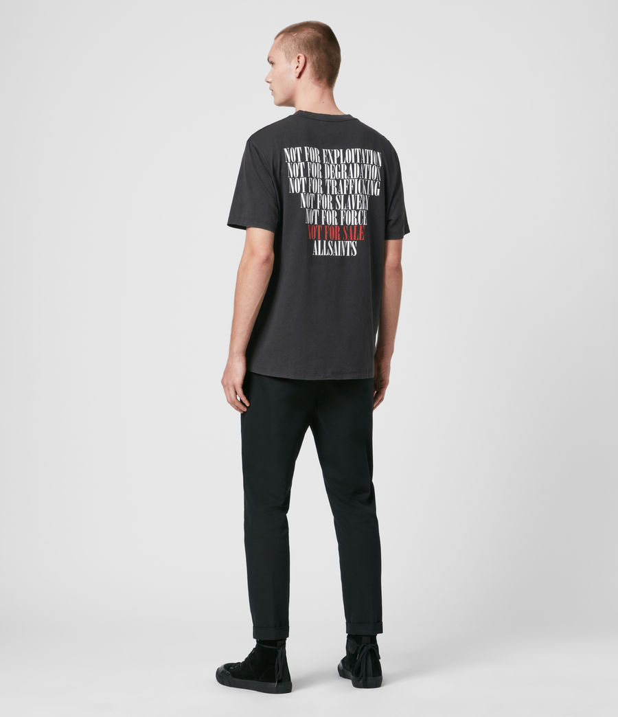 Uomo T-shirt Defy - T-shirt in beneficenza - Not For Sale (vintage_black) - Image 6