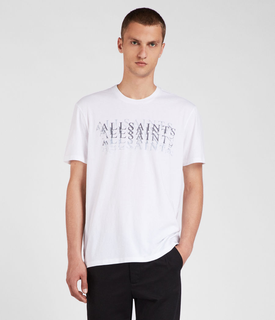 Uomo T-shirt Imprint (optic_white) - Image 2