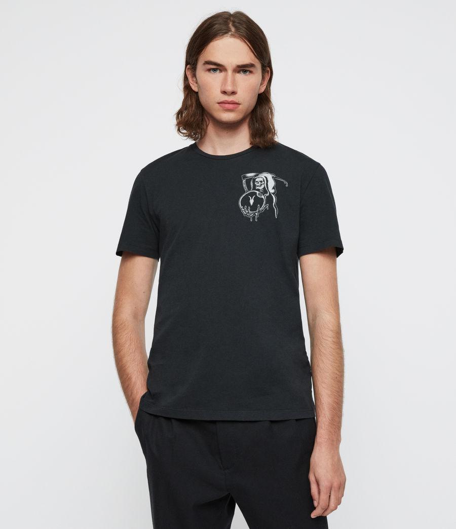 Mens Crystal Reaper Crew T-Shirt (jet_black) - Image 1