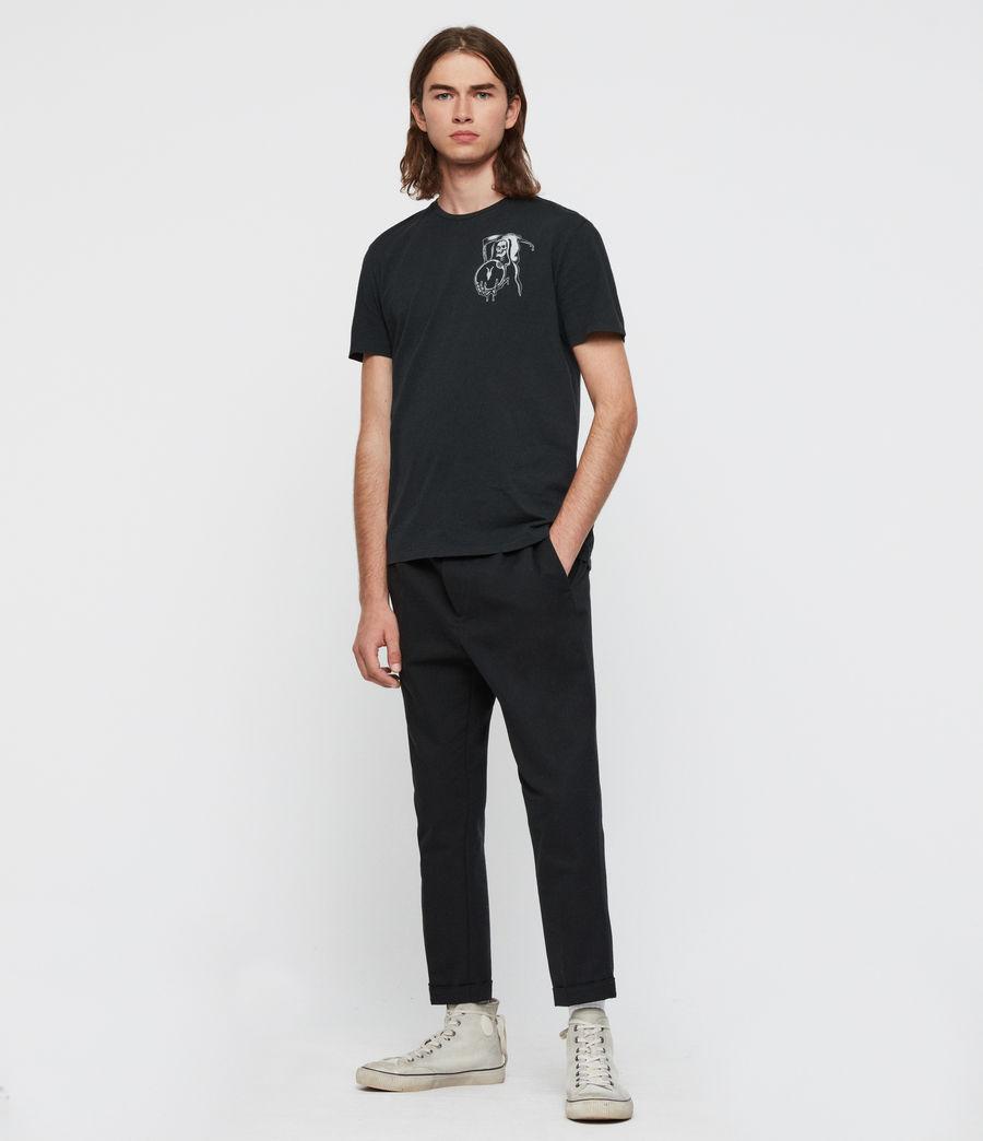 Mens Crystal Reaper Crew T-Shirt (jet_black) - Image 3