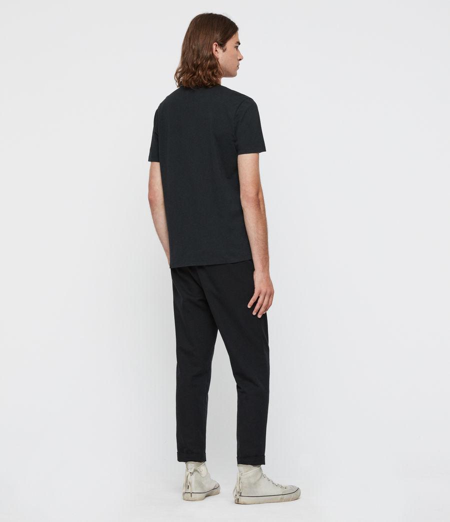 Mens Crystal Reaper Crew T-Shirt (jet_black) - Image 4