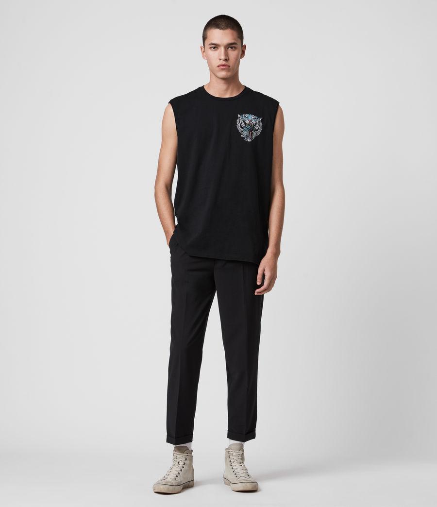 Mens Twin Tiger Sleeveless Crew T-Shirt (jet_black) - Image 3
